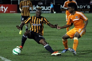 Quinton Griffith playing for Charleston Battery
