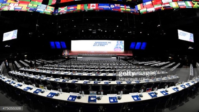 during the 65th FIFA Congress at the Hallenstadion on May 29, 2015 in Zurich, Switzerland.